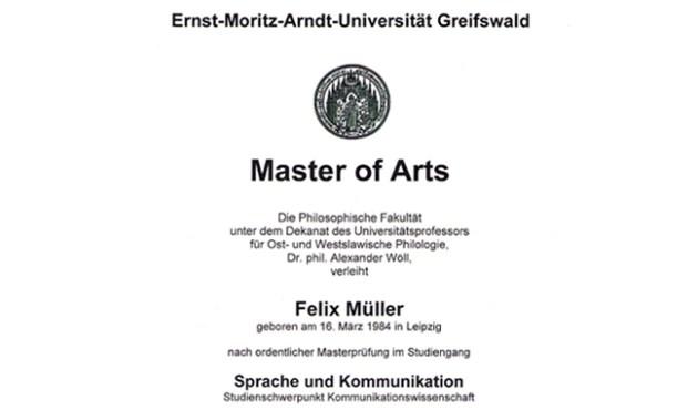 Master-of-Arts-Zeugnis-Felix-Mueller