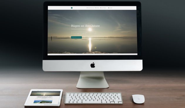 Webseite der Ferienwohnung Zum Alten Pfau im Ostseebad Göhren auf der Insel Rügen - Felix Müller Webdesign und SEO