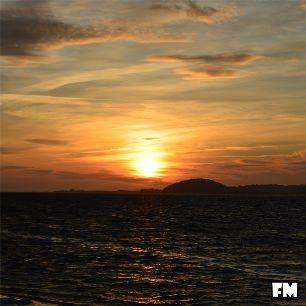 Sonnenuntergang im Ostseebad Baabe auf der Insel Rügen