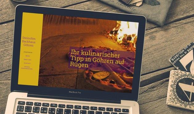 Webseite vom Pizzabackhaus im Ostseebad Göhren auf Rügen - SEO von Felix Müller