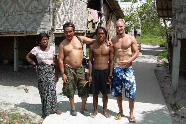 Morgan People auf der Insel Koh Phayam in Thailand